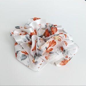 Accessories - Orange Blossom Hair Scrunchie Hair Tie
